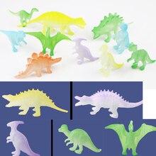 Luminous Dinosaur Toys Model Set Glow in the dark Fluorescent Kids