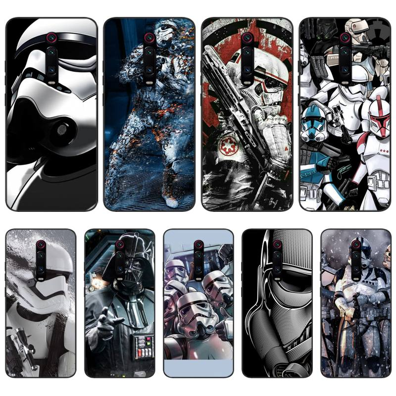 Mantin Star war Accessories Black Soft Shell Phone Case Capa For Redmi 6 4X 7 7A 8 GO K20 Note 4 4X 5 5A 6 6 Pro 7 8 8pro