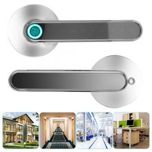 Smart Bluetooth Door Handle Lock Biometric Fingerprint Password APP Keyless Entry Lever Door Lock biometric electronic smart door lock fingerprint keyless code lock smart with 4 cards 2 mechanical keys for entry office home
