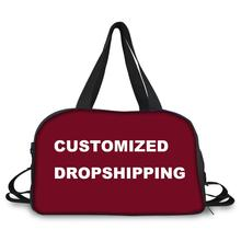 Noisydesigns Customized Travel Bag for Women Girls Luggage Bags Large Duffle Hand Carry Baggage New Hot 2019