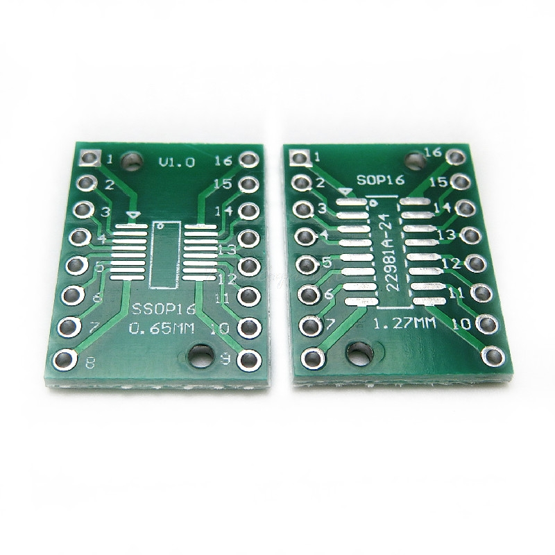 10 шт./лот TSSOP16 SSOP16 SOP16 к DIP16 плата передачи DIP Pin плата шаг адаптер PCB в наличии