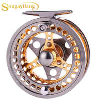 Sougayilang Large Arbor Fly Fishing Reel 2+1 BB High Die Casting Aluminium Alloy Spool Fly Reels Fishing Tackle