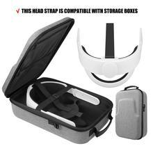 Correa para la cabeza 5 en 1 K3 Elite, almohadilla de espuma cómoda + estuche de viaje y transporte duro de EVA para Oculus Quest 2 VR Estuche De Viaje, conjunto de accesorios
