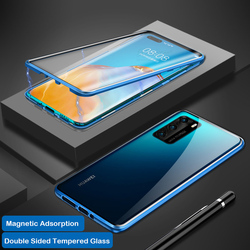 На Алиэкспресс купить стекло для смартфона magnetic adsorption case for huawei p40 pro case double side glass cover 360 full protect for huawei p40 case bumper coque funda
