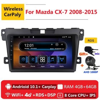2 din 8 core android 10 car radio auto stereo for Mazda CX-7 CX7 CX 7 2008 2009 2010 2015 navigation GPS DVD Multimedia Player