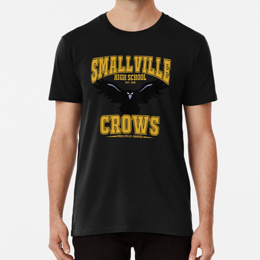 Smallville High : Home Of The Crows T Shirt Smallville Clark Kent Crows High School Kansas Kal El image