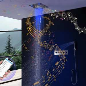 Shower-Set Rainfall Bluetooth Thermostatic-Mixer Bathroom Ceiling Music Colorful