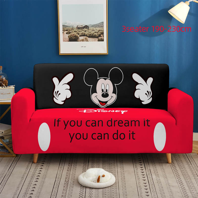 3D cartoon animation Disney Mickey Minnie Elastic Stretch Sofa Cover for Living Room Couch Cover  Cover Single/Two/Three seat