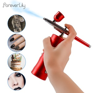 Multi-Purpose Cordless Mini Airbrush Set Spray Pump Gen Pen Air Compressor Kit Portable Air Brush Set Art Painting Spray Model