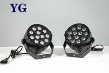 Мини светодиодный плоский Par 12x3W RGBW 4 цвета мытья этапа светильник ing для DJ вечерние клуб диско 8 каналов DMX 512 Master/Save Stage светильник