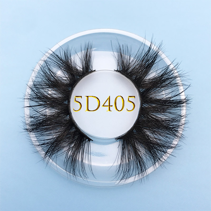 MIKIW Custom Box 15MM 5D 405 Mink Eyelash Extention Multi-layer Long Natural False Eyelash Crisscross Soft Resuable Lashes