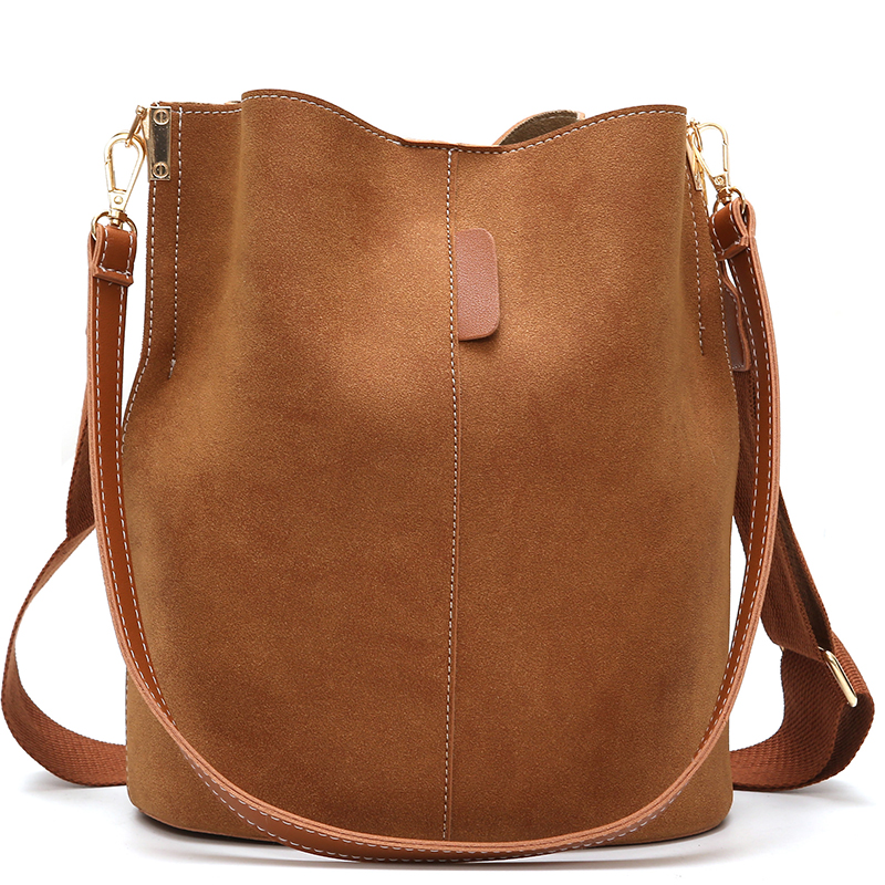 MONNET CAUTHY Autumn New Female Bags Classic Fashion Concise High Capacity Shoulder Bag Solid Color Brown Black Grey Red Bucket