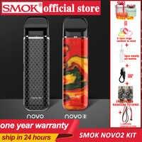 SMOK pod starter kit SMOK novo novo 2 kit cobra abgedeckt vape stift kit mit 450mAh eingebaute batterie 2ml kapazität pod system kit
