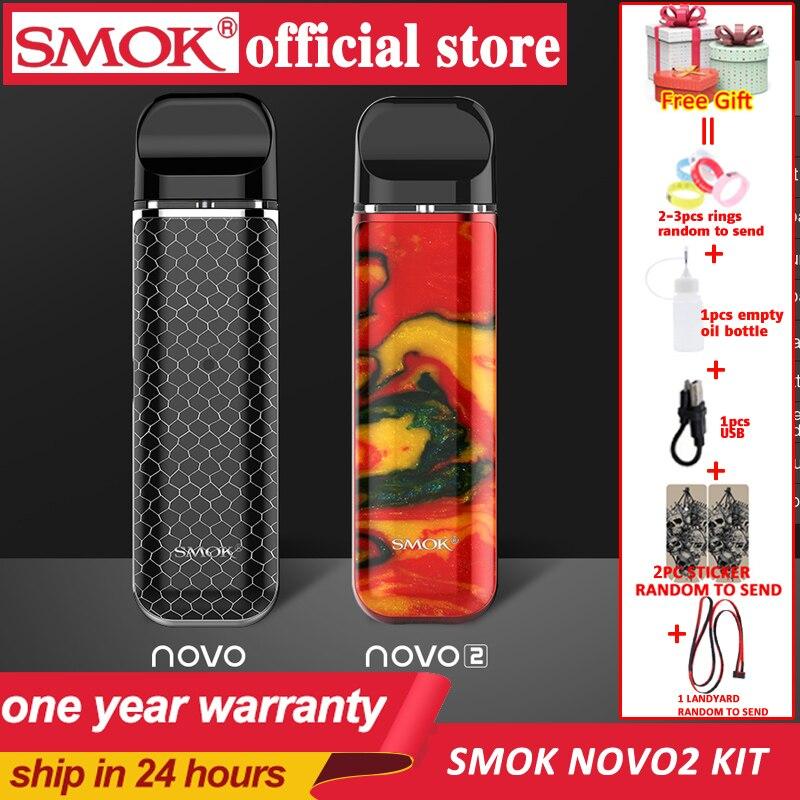 Kit de démarrage de dosette SMOK novo novo 2 kit de stylo vape recouvert de cobra avec batterie intégrée de 450mAh kit de système de dosette de 2ml