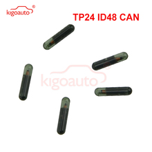 keyyou 10x car key glass transponder id48 id 48 chip t6 crypto unlocked chip for vw audi seat skoda porsche Kigoauto Transponder key ID48 CAN chip TP24 glass chip suitable for Skoda ID 48 chip