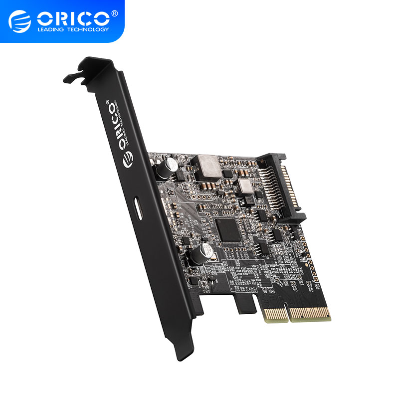 <font><b>ORICO</b></font> <font><b>USB3.0</b></font> 20Gbps <font><b>PCI</b></font>-E Express Expansion Card <font><b>PCI</b></font>-E Card x4/8/16 for Windows 8/10/Linux image