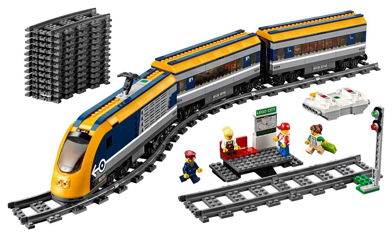 DHL 02117 02118 Cargo Train Building Blocks Set Compatible with 60197 60198 City RC Passenger Trains King Bricks 2