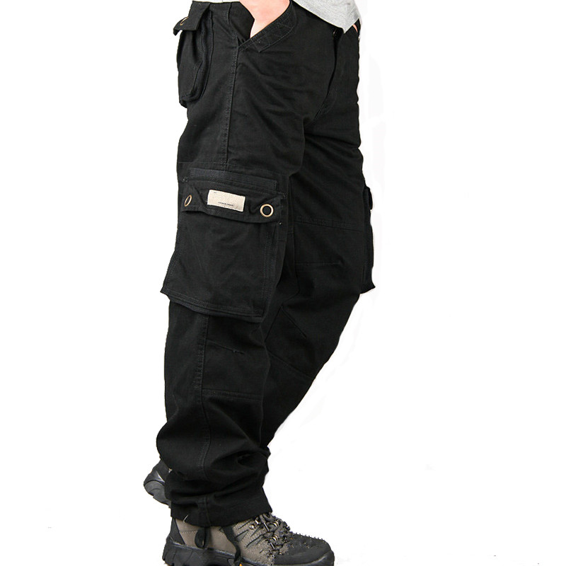 Cargo Pants Overalls Male Men Army Tactical Pants Military Work Wear Multi Pocket Combat Army Style Straight Long Trousers