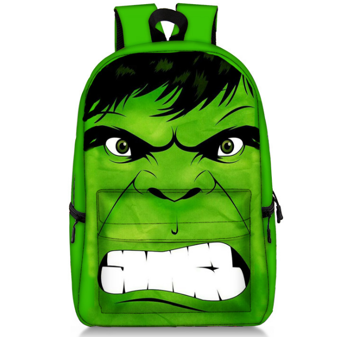 17 Inch Batman Hulk Backpacks Children School Bags Backpack For Teenager Girls Book Bag Men Women Knapsack Daypack