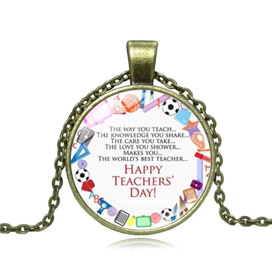 3 kolor list ''Happy nauczyciela Day'' wisiorek wielki nauczyciel uchwyt na prezent wisiorek na zamówienie dla mężczyzn kobiety merci maitresse prezent 2019