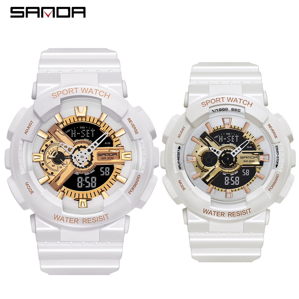 2020 SANDA Military Men's Watch Top Brand Luxury Waterproof Sport Wristwatch Fashion Quartz Clock Couple Watch relogio masculino 27