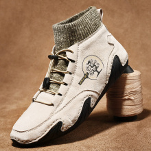 KEZZLY Men's plus size outdoor men's shoes Octopus soft peas shoes Winter fashion warm driving shoes Men's Fashion Boots
