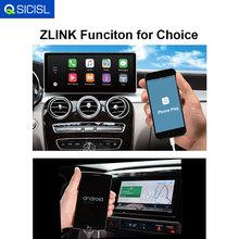Zlink funkcja do samochodu radio odtwarzacz multimedialny telefon odtwarzanie i android auto tanie tanio QSICISL Double Din 4*45W Android 9 0 Dvd-r rw Dvd-ram Video cd Jpeg Metal+ABS 1024*600 4 5kg 12 v Other