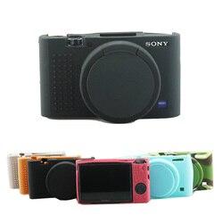 Miękki silikonowy futerał na kamerę dla Sony RX100 III RX100 IV RX100 V VI RX100 VII guma ochronna ciała pokrywa torba skóry futerał na aparat