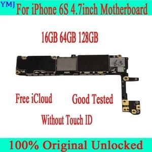 Image 2 - Volledige Unlocked Voor Iphone 6 S 6 S Moederbord Met/Zonder Touch Id, originele Voor Iphone 6 S Moederbord Met Volledige Chips,16Gb 64G 128G
