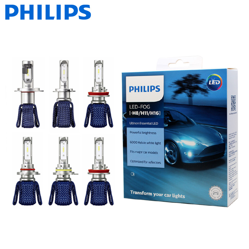 Philips Ultinon Эфирное светодиодный комплект 6000 K 12 V H4 H7 H11 HB3 HB4 H1R2 9005 9006 9012 фар H8 H11 H16 противотуманная фара