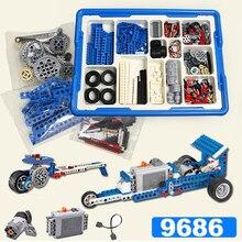 Compatible con 9686 DIY 9656 Piezas de bloques de construcción, caja de batería de Motor, conjunto de ayuda para la tecnología MOC 9686. Compatible con legión conjunto