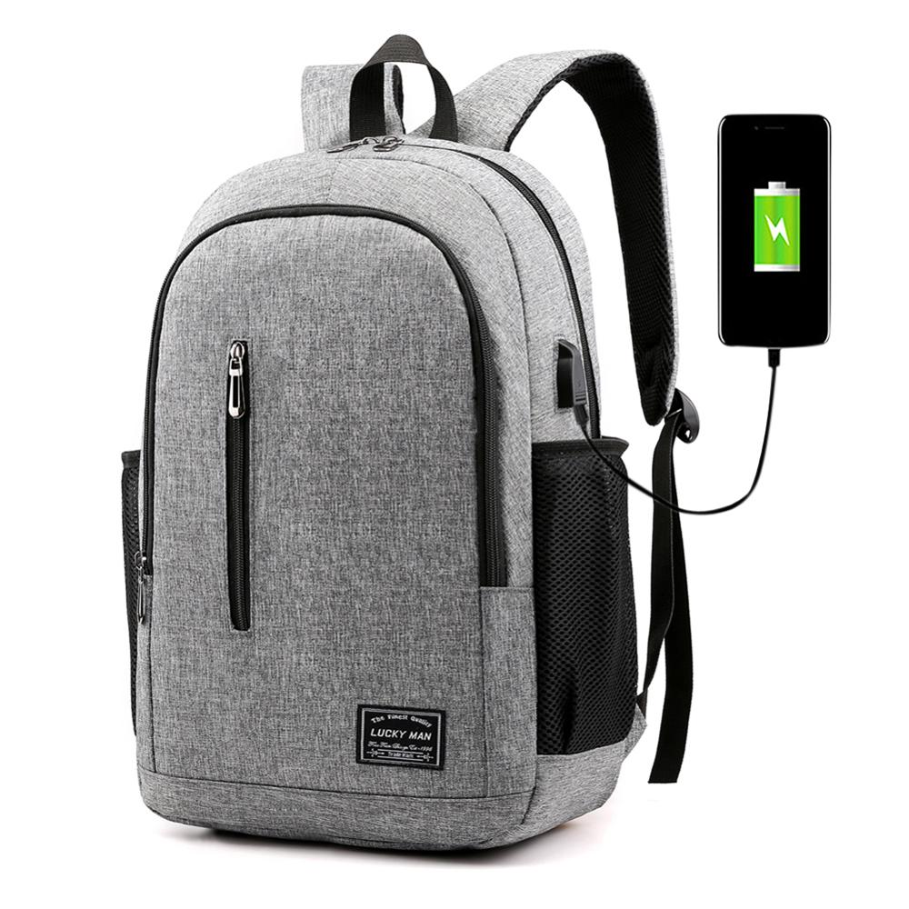 Men Business Laptop Backpack With USB Charging Port Anti Theft Travel Bag USB Charging Travel Laptop Knapsack Dropshipping