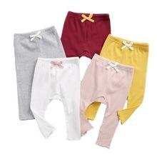 2020秋新生児女の子ちょう結びリブ幼児子供スキニーパンツ乳幼児ズボン