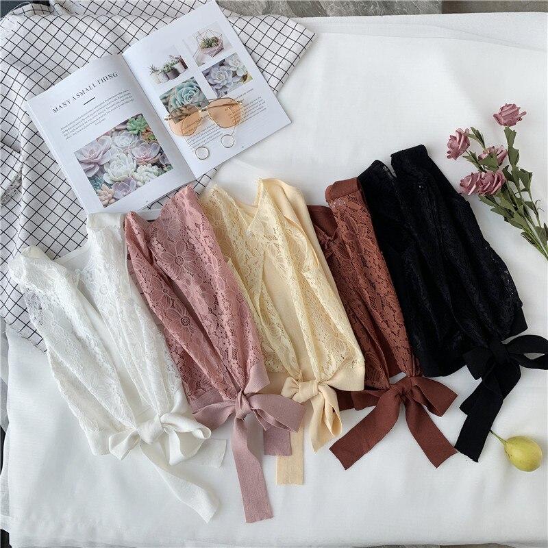 HELIAR Women Drastring Tank Tops Knitting Crop Top Female Plain V neck Tied Up Camis Women 2020 Summer Lace Crop Tops Women