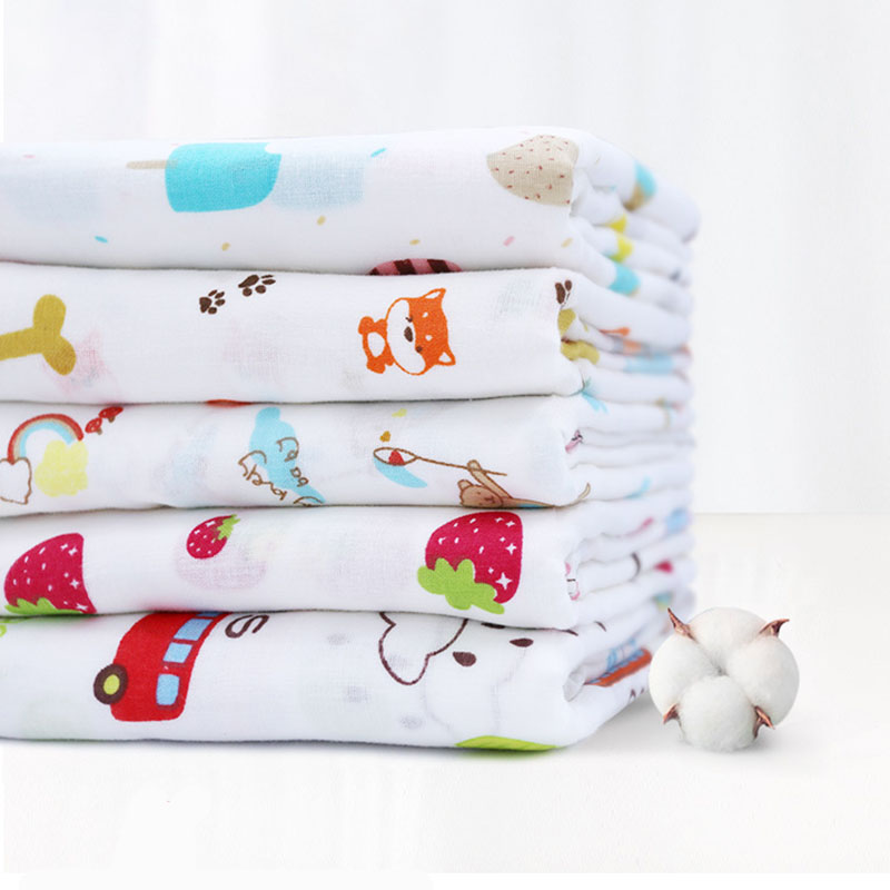 150*100cm Muslin 100% Cotton Baby Swaddles Soft  Infant Wrap Sleepsack Stroller Cover Newborn Blankets Bath Gauze