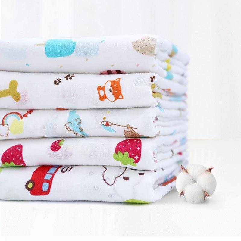 150*100cm Muslin 100% Cotton Baby Swaddles Soft  Infant Wrap Sleepsack Stroller Cover Newborn Blankets Bath Gauze