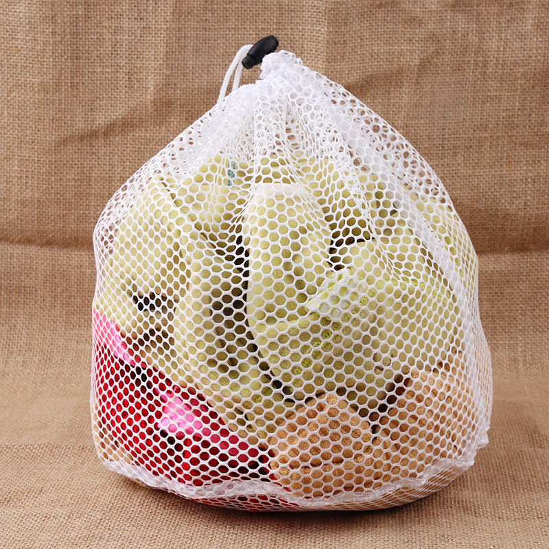 2019 New Two Styles Laundry Bag Clothes Protect Special Bag For Washing Machine Large Capacity White Mesh Fishnet Drawstring Bag