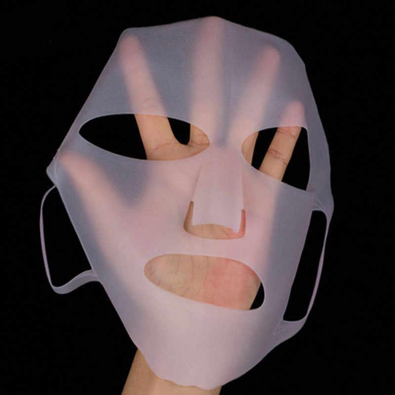 1Pc Reusable Silikon Gesicht Hautpflege Maske für Blatt Maske Verhindern Verdampfung Dampf Wiederverwendung Wasserdichte Maske Rosa/Weiß schönheit Werkzeug