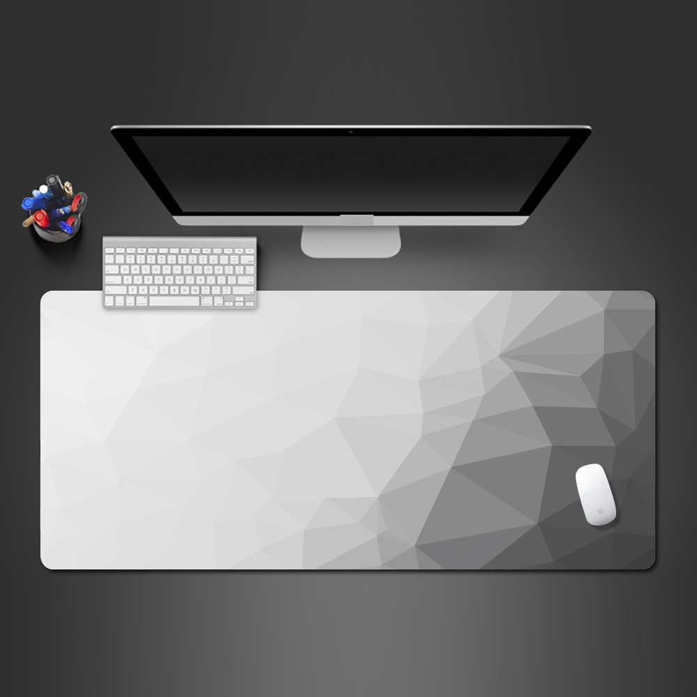 Color Creative Personality Game Mouse Pad Large Size Gray Gradient Desktop Keyboard Lock Border Washable Rubber Pad