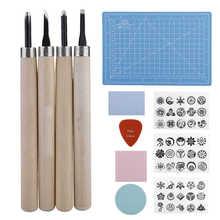 Zestaw pieczątek DIY Craft W odcisk atramentowy wzór papieru narzędzia do rzeźbienia tanie tanio CN (pochodzenie)