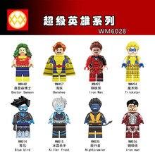 WM6028 Single Sale Super Heroes Doctor Samson Banshee Iron Man Blue Bird Nightcrawler Bricks Building Blocks Children Gift Toys