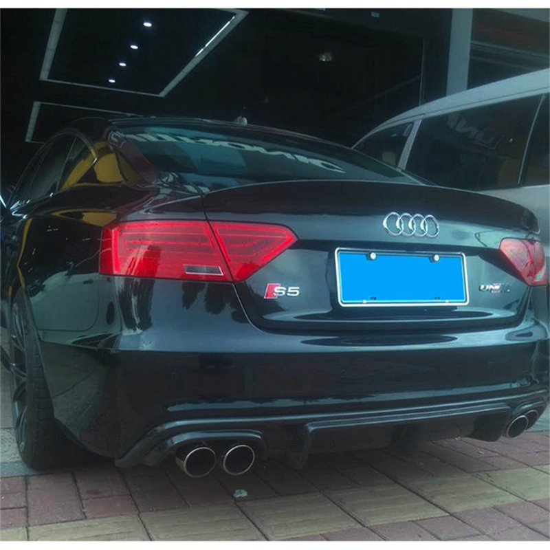 A5 High Qualiy Carbon Fiber Rear Lip Diffuser Car Styling For Audi A5 S5 Style Car Body Kit 2012-up