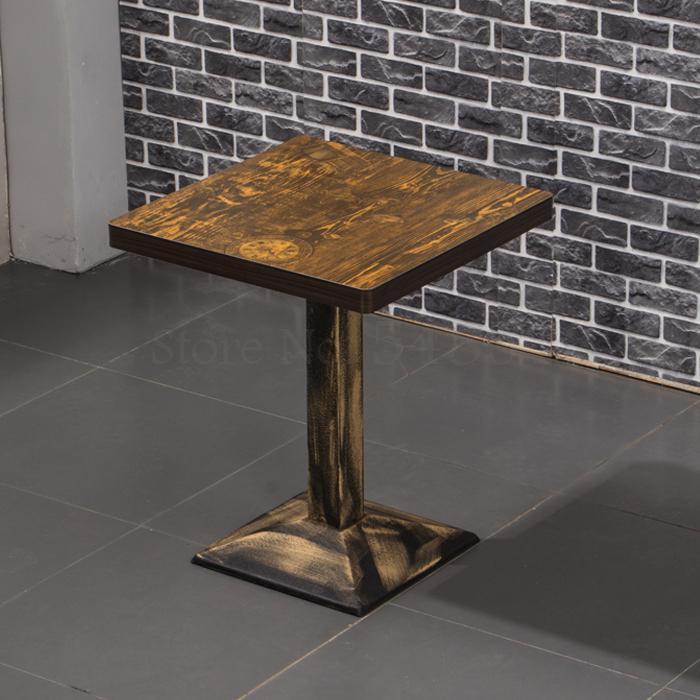 Ретро Простой Закусочная быстро обеденный стол и стул комбинации Горячий Горшок стол и стул ресторан барбекю Эконом лапши restau - Цвет: 60x60cm  1