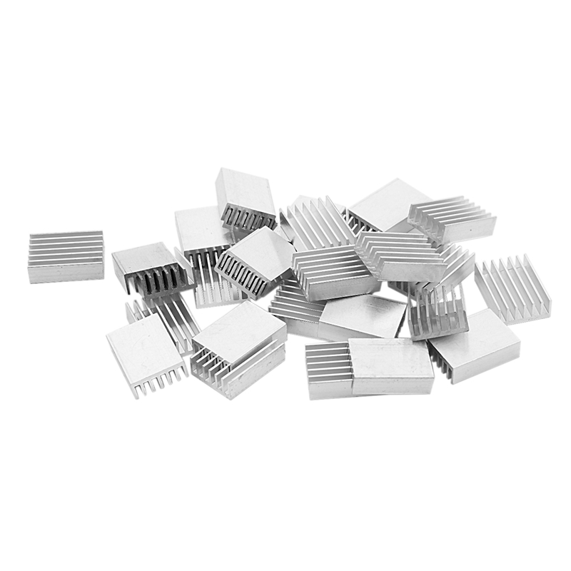 30 Pcs Aluminum Heatsink Cooling Fin 20mmx14mmx6mm For Mosfet IC