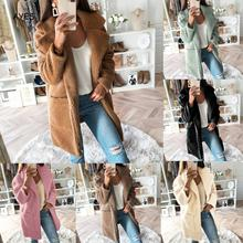 цена Plus Size Jacket Women 2019 Autumn Winter Long Sleeve Fur Coat Warm Thick Teddy Jacket Long Coat Fur Jacket Teddy Long Outwear онлайн в 2017 году