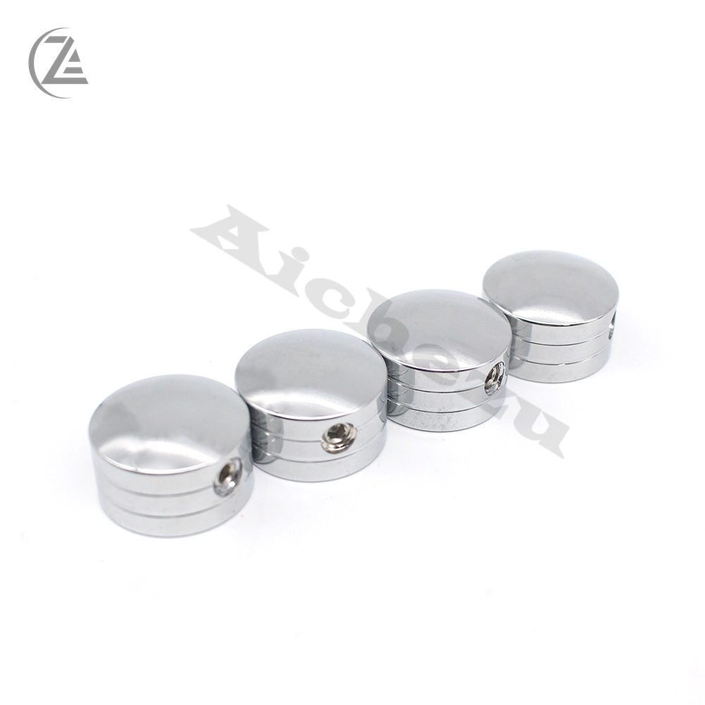 Head Bolt and Spark Plug Cover Kit Silver Fits Twin Cams 1999-Up