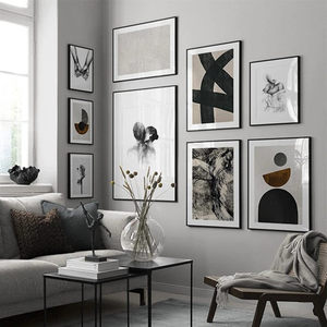 Modern Abstract poster Home Decor Nordic Canvas Painting Figure picture Minimalist Black and White Wall Art Print for Bedroom