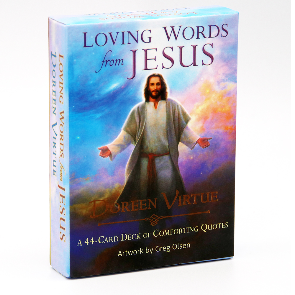 Loving Words From Jesus A 44-Card Deck Comforting Quotes Artwork By Gtrg Olsen Doreen Virtue Game Toy