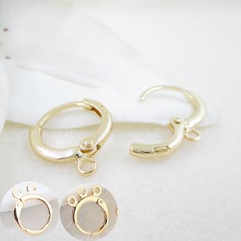 12 sztuk 12x14MM 24K kolor złoty galwanicznie kolczyk Hoop dla DIY tworzenia biżuterii znalezienie akcesoria tanie i dobre opinie TARIN THOMAS Earring Hoop 1 4cm Ocena biżuteria Metal Miedzi 1 2cm Brass 24K Gold Color Platinum Color 12PCS