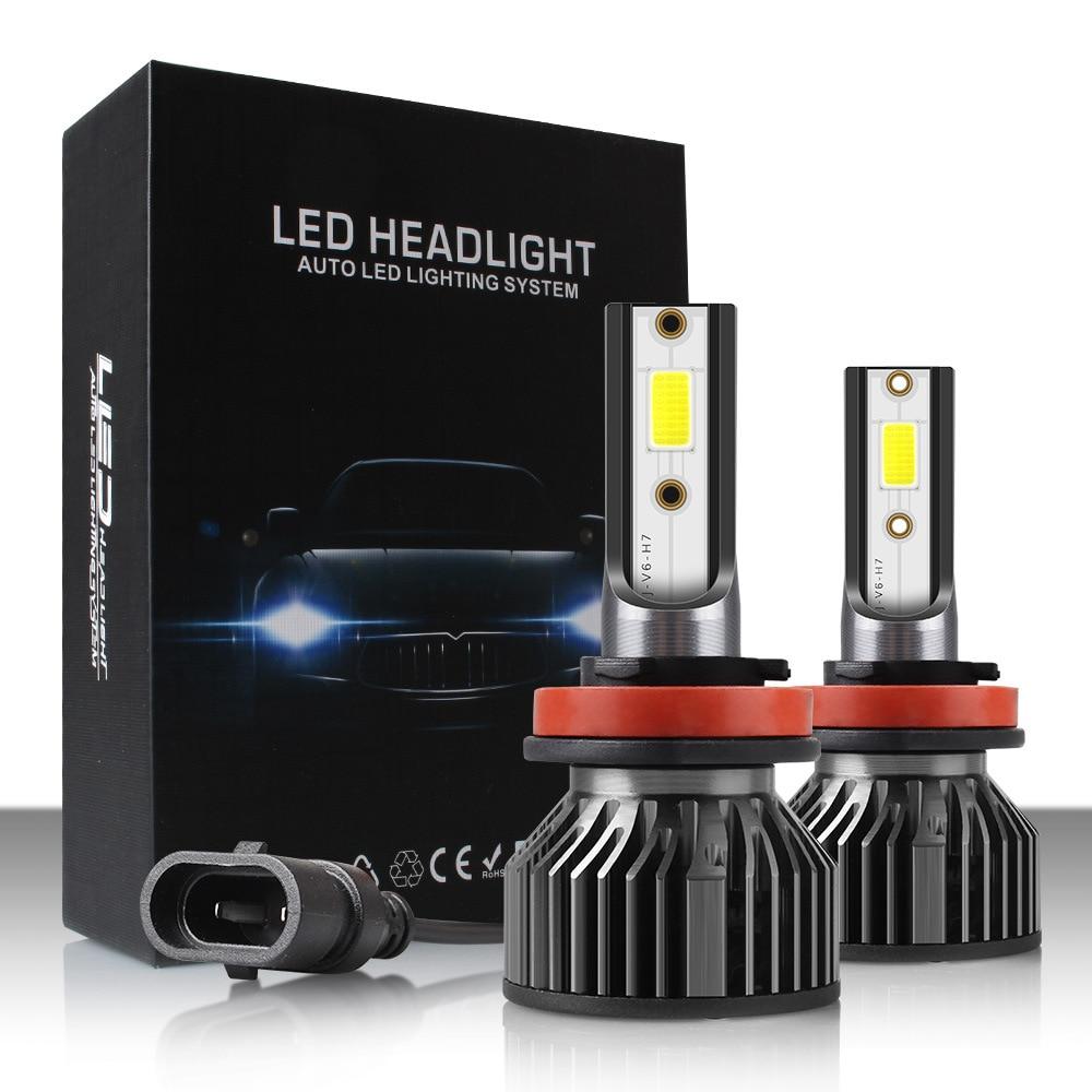 PAMPSEE 12000LM H11 H1 H3 H4 H7 LED Car Headlight Bulbs 76W 6000K 9005 HB3 9006 HB4 H8 H9 Auto Fog Lights 12V 24V Led S6